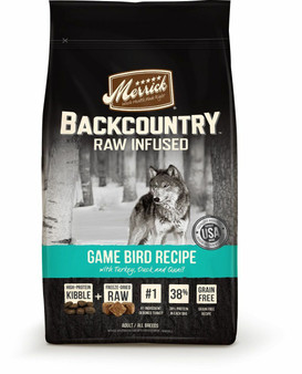 Merrick Backcountry Grain Free Game Bird Dry Dog Food with Raw Inclusion