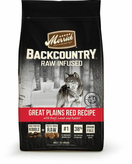 Merrick Backcountry Grain Free Great Plains Dry Dog Food with Raw Inclusion