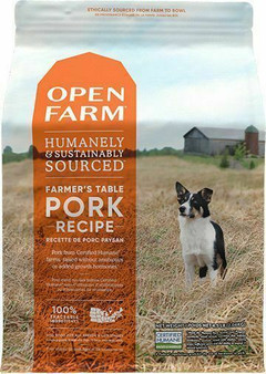 Open Farm Farmer's Table Pork Dry Dog Food packaging