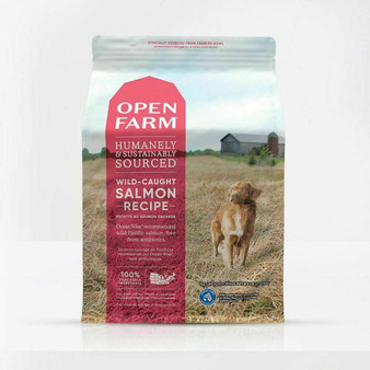 Open Farm Wild-Caught Salmon Dry Dog Food Packaging