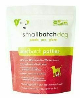 Smallbatch Dog Beef Patties 6lb