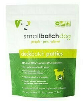 Smallbatch Dog Duck Patties 6lb