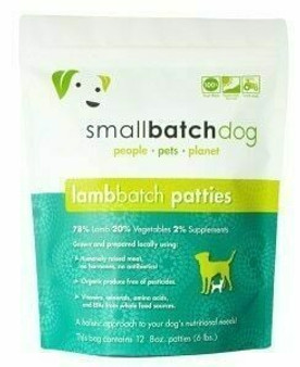 Smallbatch Dog Lamb Patties 6lb
