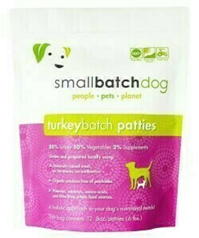 Smallbatch Dog Turkey Patties 6lb