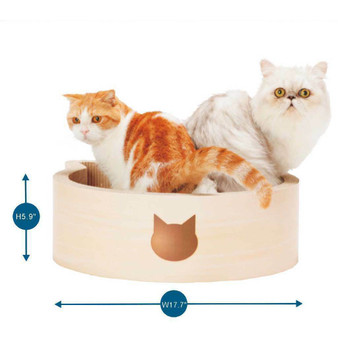 Cat-headed Scratcher Bed Birch Large