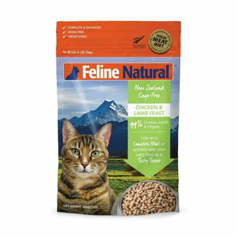 Feline Natural Chicken and Lamb Feast Freeze Dried Cat Food 11 oz front view