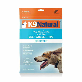 K9 Natural Beef Green Tripe Booster Freeze Dried Dog Food Supplement 8.8 oz front view