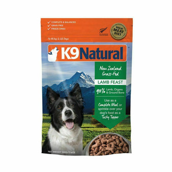 K9 Natural Lamb Feast Freeze Dried Dog Food 17.6 oz front view