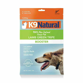 K9 Natural Lamb Green Tripe Booster Freeze Dried Dog Food Supplement 7 oz front view