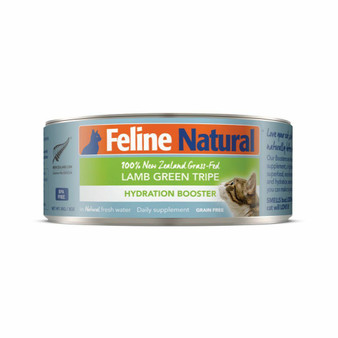 Feline Natural Lamb Tripe Hydration Booster Canned Cat Supplement 3 oz front view