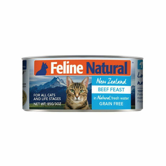 Feline Natural Beef Feast Canned Cat Food 3 oz front view