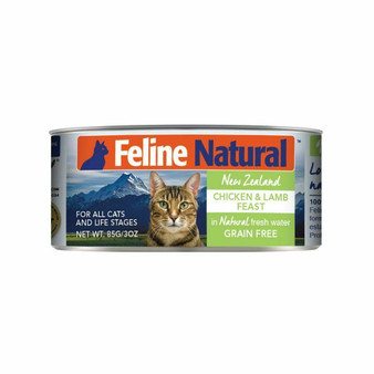 Feline Natural Chicken and Lamb Feast Canned Cat Food 3 oz front view