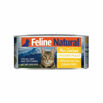 Feline Natural Chicken Feast Canned Cat Food 3 oz front view