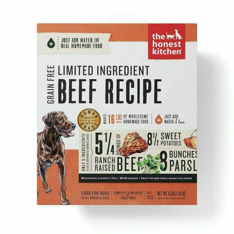 The Honest Kitchen Limited Ingredient Beef Dog Food Recipe