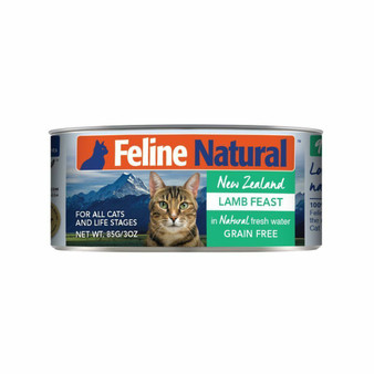 Feline Natural Lamb Feast Canned Cat Food 3 oz front view