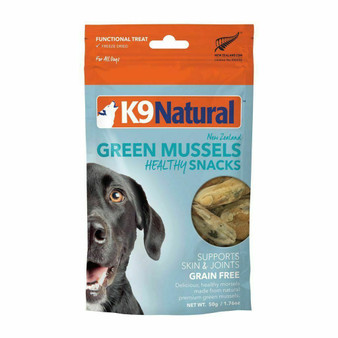 K9 Natural Green Mussel Healthy Snacks Freeze Dried Dog Treat 1.76 oz front view