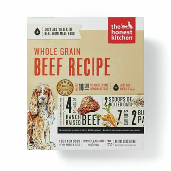 The Honest Kitchen Whole Grain Beef Dog Food Recipe