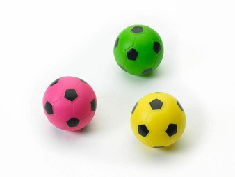 Group Image of Vinyl Soccer Ball Dog Toys