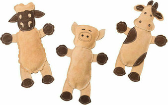 Group Image of DuraFused Leather Barnyard Asst Dog Toys