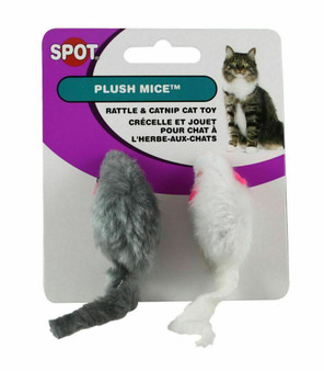 Image of Smooth Plush Mice 2-PK Cat Toy