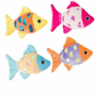 Group Image of Shimmer Glimmer Fish Cat Toys