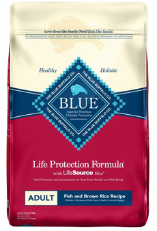 Blue Buffalo Life Protection Formula Natural Adult Dry Dog Food, Fish and Brown Rice 30-lb