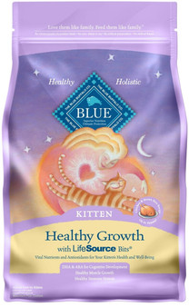 Blue Buffalo Healthy Growth Natural Kitten Dry Cat Food, Chicken & Brown Rice 3-lb