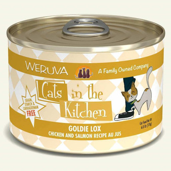 Weruva Cats in the Kitchen, Goldie Lox with Chicken & Salmon Au Jus Cat Food, 6oz Can