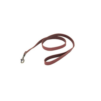 "Circle T® Rustic Leather Dog Leash, Brick Red, 3/8"" x 04'"