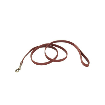 "Circle T® Rustic Leather Dog Leash, Brick Red, 3/8"" x 06'"