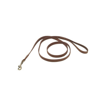 "Circle T® Rustic Leather Dog Leash, Chocolate, 3/8"" x 06'"
