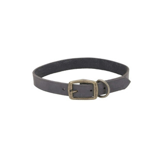 "Circle T® Rustic Leather Town Dog Collar, Slate Grey, 1"" x 22"""