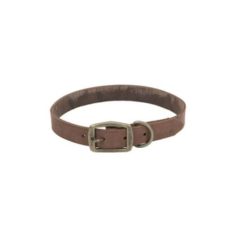 "Circle T® Rustic Leather Town Dog Collar, Chocolate, 1"" x 22"""