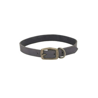 "Circle T® Rustic Leather Town Dog Collar, Slate Grey, 1"" x 24"""
