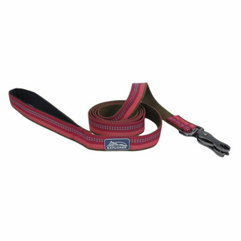 "K9 Explorer® Reflective Dog Leash with Scissor Snap, Berry, 1"" x 06'"