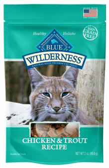 Blue Buffalo Wilderness Chicken & Trout Grain Free Cat Treats, 2-oz bag