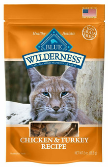 Blue Buffalo Wilderness Chicken & Turkey Grain Free Cat Treats, 2-oz bag