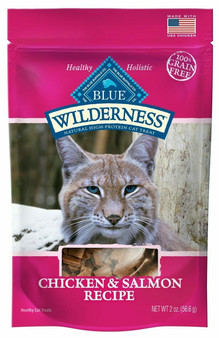Blue Buffalo Wilderness Chicken & Salmon Grain Free Cat Treats, 2-oz bag