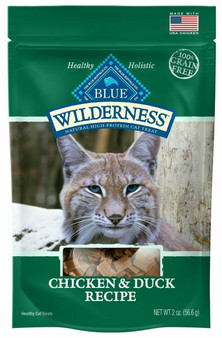 Blue Buffalo Wilderness Chicken & Duck Grain Free Cat Treats, 2-oz bag