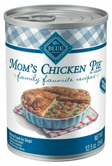 Blue Buffalo Family Favorites Natural Adult Wet Dog Food, Mom's Chicken Pie 12.5-oz cans
