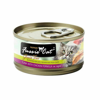 Fussie Cat Premium Tuna with Chicken Formula in Aspic 2.82oz