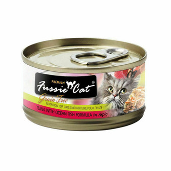 Fussie Cat Premium Tuna with Ocean Fish Formula in Aspic 2.82oz
