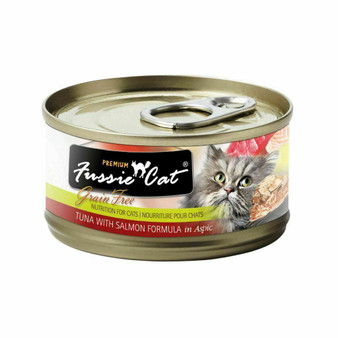 Fussie Cat Premium Tuna with Salmon Formula in Aspic 2.82oz
