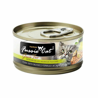 Fussie Cat Premium Tuna with Mussels Formula in Aspic 2.82oz