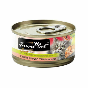 Fussie Cat Premium Tuna with Prawns Formula in Aspic 2.82oz