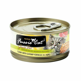 Fussie Cat Premium Tuna with Shrimp Formula in Aspic 2.82oz