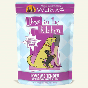 Weruva Dogs in the Kitchen, Love Me Tender with Chicken Breast Au Jus Dog Food, 2.8oz Pouch