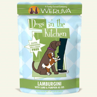 Weruva Dogs in the Kitchen, Lamburgini with Lamb & Pumpkin Au Jus Dog Food, 2.8oz Pouch