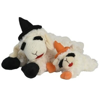 Halloween Lamb Chop with Witches Hat 6""