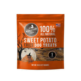 ONE & DONE: A single ingredient, healthy dog treat made with sweet potatoes & that's it. Since there is minimal processing, treats will vary in size, shape, and firmness